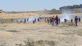 إصابات من بينهم صحفي برصاص جيش الاحتلال في مسيرات كسر الحصار شرق غزة