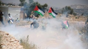 إصابة عشرات المواطنين بالاختناق عقب قمع الاحتلال مسيرة نعلين