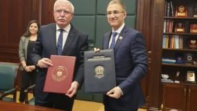 فلسطين توقع اتفاقية تعاون أمني مع صربيا