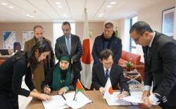 توقيع عقود أربعة منح ضمن برنامج المشاريع الأهلية (GGP) بـ345 الف دولار
