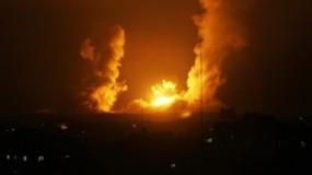 طائرات الاحتلال تشن غارات متفرقة على مواقع في قطاع غزة