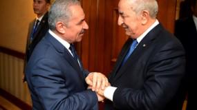 """الرئيس الجزائري لـ""""اشتية"""": نحن مع فلسطين سواء كانت ظالمة أو مظلومة"""
