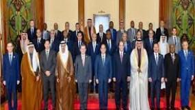 """لقاء الرئيس المصري """"السيسي"""" بــ رؤساء مخابرات الدول العربية"""
