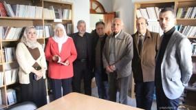 وزيرة شئون المرأة تزور الاتحاد العام للكتّاب والأدباء في غزة وتجتمع بالأمانة العامة