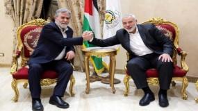 مباحثات بين هنية والنخالة بشأن التطورات في فلسطين
