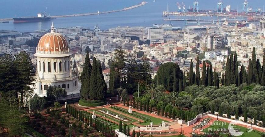 قبة عباس والبلدة التحتى وميناء حيفا