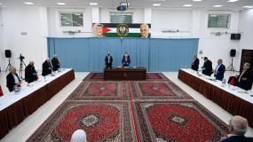 """خلال ترأسه اجتماع المركزية..الرئيس عباس يتحدث عن (كورونا) و""""الضم"""" وقضية اللاجئين"""