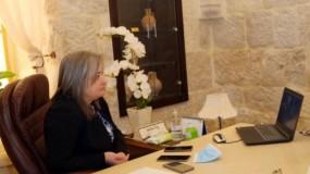 الوزيرة معايعة تلتقي مديرة (يونسكو) الجديدة في فلسطين