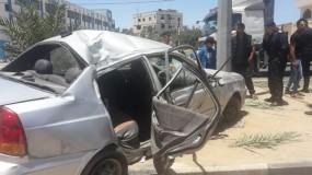 وفاة طفل وإصابة ستة آخرين بحادث مروري على شارع صلاح الدين بالوسطى