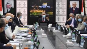 مجلس الوزراء يدعو المواطنين للتقيد الصارم بالإجراءات الاحترازية الخاصة بفيروس (كورونا)  واشتية الرواتب تعتمد على الامكانيات