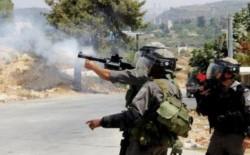 """اصابة جنديين اسرائيليين خلال مواجهات و إصابات برصاص جيش الاحتلال """"المطاطي"""" شرق قلقيلية وكفر قدوم"""