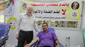 مفوضية المكاتب الحركية في إقليم غرب غزة تنظم حملة التبرع بالدم