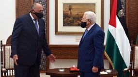 خلال لقاء الرئيس عباس.. شكري يؤكد دعم بلاده ومساندتها للشعب الفلسطيني وقضيته العادلة