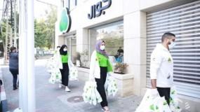 جوال تدعم التنمية الاجتماعية بطرود صحية في غزة