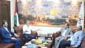 أمين عام حركة الجهاد يستقبل وفدًا من جبهة التحرير الفلسطينية