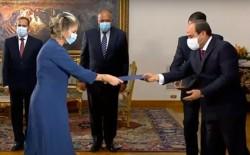 الرئيس المصري، يتسلم أوراق اعتماد السفيرة الإسرائيلية الجديدة إلى القاهرة، أميرة أورون