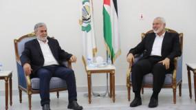 هنية يستقبل النخالة ويبحثان ملف الانتخابات الفلسطينية