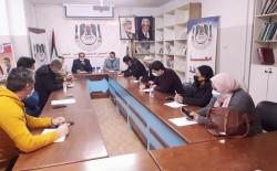 نقابة الصحفيين بغزة تناقش أوضاع الإعلاميين ووسائل الإعلام المحلية