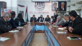خلال ندوة حوارية بنقابة الصحفيين.. أبو سيف: نجاح الانتخابات فرصة لتغيير الواقع والنهوض بواقع قطاع غزة