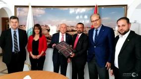 جمعية رجال الاعمال الفلسطينيين تستقبل القنصل العام الايطالي السيد جوسيبي فيديل