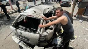 استشهاد 4 مواطنين باستهداف طائرات الاحتلال لسيارة مدنية بحي الصبرة