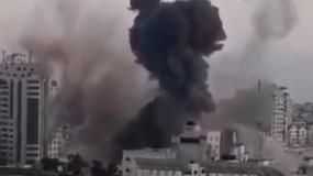 الاحتلال دمر مقر قيادة وزارة الداخلية في مجمع أنصار غرب غزة