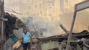 """الهيئة المستقلة تطالب بالتحقيق في حريق """"سوق الزاوية"""" بمدينة غزة"""