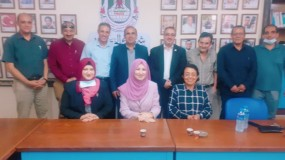 نقابة المدربين الفلسطينيين P.T.A تزور نقابة الصحفيين الفلسطينيين.