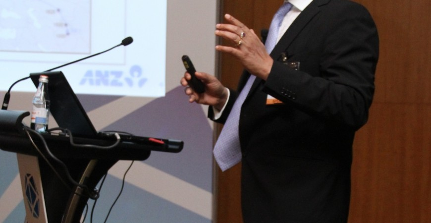 سانجوي سين، العضو المنتدب للخدمات المصرفية للأفراد في منطقة آسيا في البنك الأسترالي النيوزيلندي .
