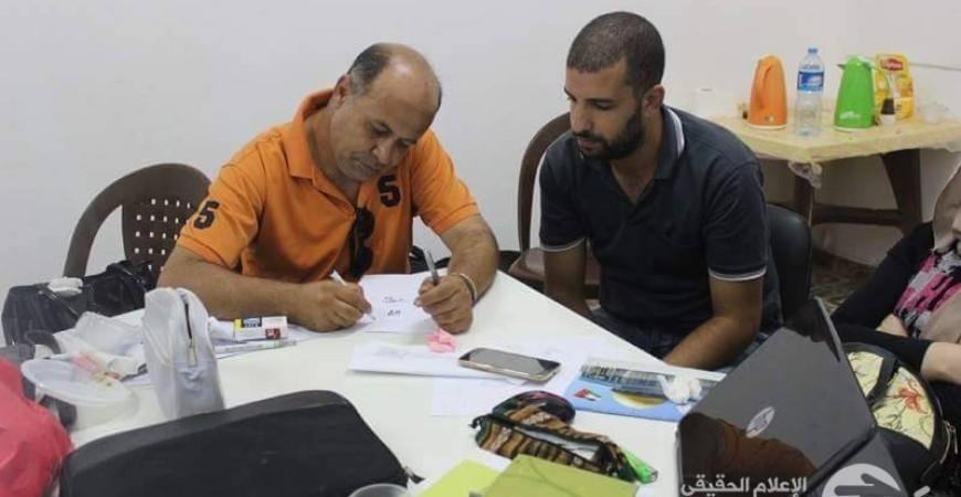 الفنان عمر شلا والفنان باسل المقوسي