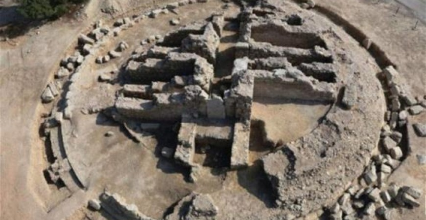 المدفن الملكي الذي تم اكتشافه (صحيفة الشرق)