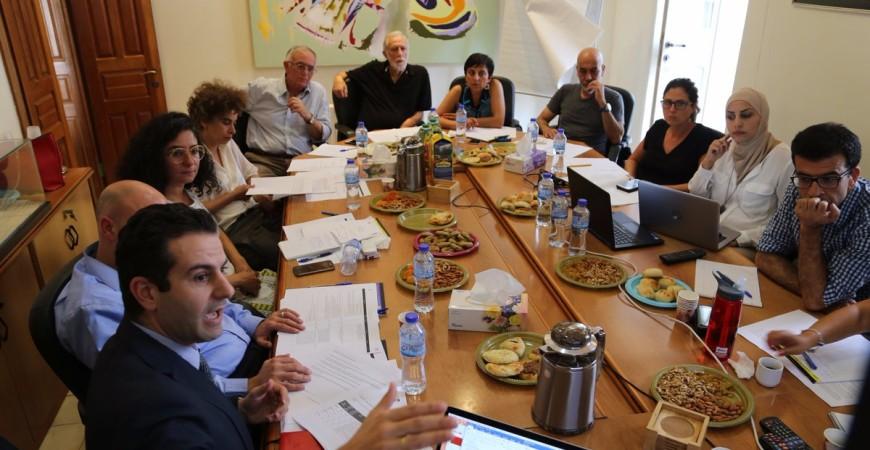اجتماع لجنة تحكيم المشروع