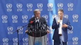 """في تقرير لمجلس الأمن..غوتيريش يدعو إسرائيل للعدول عن خطتها """"الكارثية"""""""