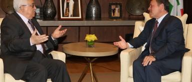 الرئيس عباس يلتقي العاهل الأردني في عمان و يصل القاهرة في زيارة رسمية