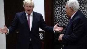 """جونسون يؤكد لعباس التزام بريطانيا بـ""""حل الدولتين"""""""