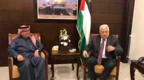 الرئيس عباس يلتقي السفير القطري محمد العمادي في رام الله