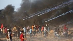 إصابات في مسيرات كسر الحصار شرق قطاع غزة