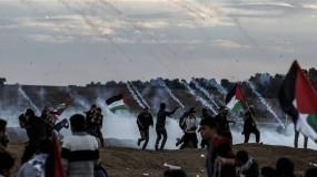 """شهيد وإصابات برصاص قوات الاحتلال في جمعة """"انتفاضة الاقصى والاسرى"""" شرق قطاع غزة"""