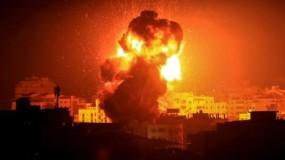 """جيش الاحتلال يقصف عدة مواقع عسكرية في جنوب قطاع غزة بعد زعمه : سقوط صاروخ في منطقة مفتوحة بـ""""أشكول"""""""